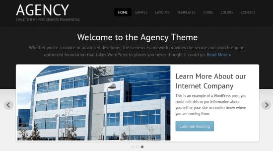 Top Corporate Genesis Child Theme - Agency