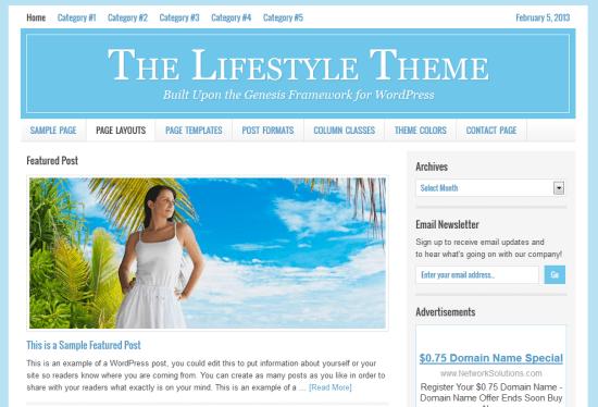 Lifestyle Mommy Blog Child Theme