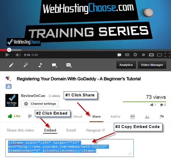 Embedding YouTube Video Into WordPress