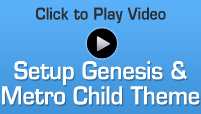How to Setup the Genesis Framework and Metro Child Theme